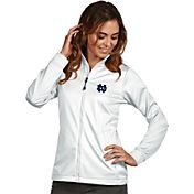 Antigua Women's Notre Dame Fighting Irish White Performance Golf Jacket