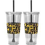 Boelter Pittsburgh Pirates Bold Sleeved 22oz Straw Tumbler 2-Pack