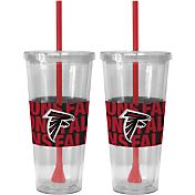 Boelter Atlanta Falcons Bold Sleeved 22oz Straw Tumbler 2-Pack