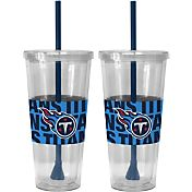 Boelter Tennessee Titans Bold Sleeved 22oz Straw Tumbler 2-Pack