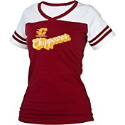 boxercraft Women's Central Michigan Chippewas Maroon/White Powder Puff T-Shirt