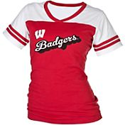 boxercraft Women's Wisconsin Badgers Red/White Powder Puff T-Shirt