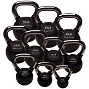Body Solid KBCS275 Chrome Handle Rubber Kettlebell Set