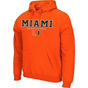 Colosseum Athletics Men's Miami Hurricanes Green Performance Fleece Pullover Hoodie