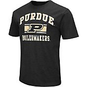 Colosseum Athletics Men's Purdue Boilermakers Black Dual-Blend T-Shirt