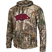 Colosseum Athletics Men's Arkansas Razorbacks Camo Breech Pullover Hoodie