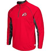 Colosseum Athletics Men's Utah Utes Crimson Airstream Quarter-Zip Windshirt