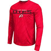 Colosseum Athletics Men's Utah Utes Crimson Sleet Long Sleeve Performance Shirt