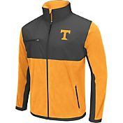 Colosseum Athletics Men's Tennessee Volunteers Tennessee Orange/Grey Mesa Polar Fleece Jacket
