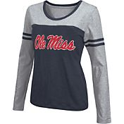 Colosseum Athletics Women's Ole Miss Rebels Red Leap Scoop Neck Long Sleeve Shirt