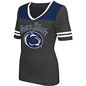 Colosseum Athletics Women's Penn State Nittany Lions Grey Twist V-Neck T-Shirt