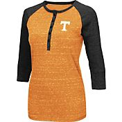 Colosseum Women's Tennessee Volunteers Tennessee Orange Three-Quarter Sleeve Henley Shirt