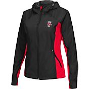 Colosseum Athletics Women's Wisconsin Badgers Black/Red Step Out Windbreaker