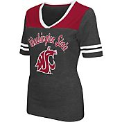 Colosseum Athletics Women's Washington State Cougars Grey Twist V-Neck T-Shirt