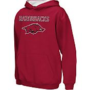 Colosseum Athletics Boys' Arkansas Razorbacks Cardinal Poly Fleece Hoodie