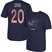 CCM Men's Columbus Blue Jackets Brandon Saad #20 Vintage Replica Navy Player T-Shirt