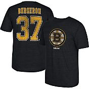 CCM Men's Boston Bruins Patrice Bergeron #37 Vintage Replica Black Player T-Shirt