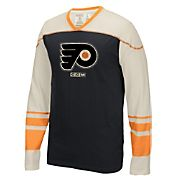 CCM Men's Philadelphia Flyers Applique Black/Orange Long Sleeve T-Shirt