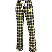 Concepts Sport Women's Michigan Wolverines Blue/Maize Captivate Plaid Sleep Pants