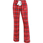 Concepts Sport Women's Wisconsin Badgers Red/Black Captivate Plaid Sleep Pants
