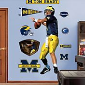 Fathead Tom Brady Michigan Wolverines Wall Decal