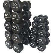 Fitness Gear Rubber Hex 5-50 lb Dumbbell Set