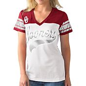 G-III For Her Women's Oklahoma Sooners White/Crimson Pass Rush T-Shirt
