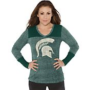 Touch by Alyssa Milano Women's Michigan State Spartans Green Goal Line Long Sleeve Shirt