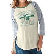 G-III For Her Women's Michigan State Spartans White/Grey Hang Time Three-Quarter Shirt
