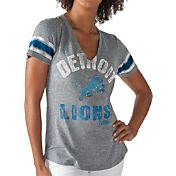 G-III for Her Women's Detroit Lions Any Sunday Grey T-Shirt
