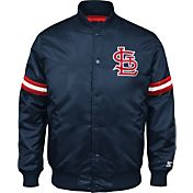 Starter Men's St. Louis Cardinals Navy Button Down Jacket