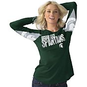 Hands High Women's Michigan State Spartans Green Handoff Long Sleeve Shirt