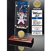 Highland Mint David Wright New York Mets Ticket and Bronze Coin Acrylic Desktop Display