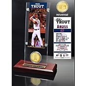 Highland Mint Mike Trout Los Angeles Angels Ticket and Bronze Coin Acrylic Desktop Display