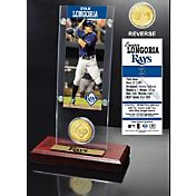 Highland Mint Evan Longoria Tampa Bay Rays Ticket and Bronze Coin Acrylic Desktop Display