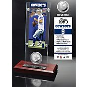 The Highland Mint Dallas Cowboys Tony Romo Ticket and Coin Desktop Display