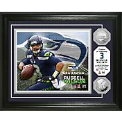 The Highland Mint Seattle Seahawks Russell Wilson Framed Silver Coin Photo Mint