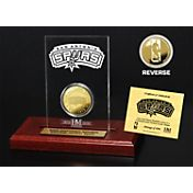 The Highland Mint San Antonio Spurs Gold Coin Etched Acrylic