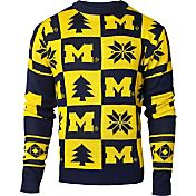 Klew Men's Michigan Wolverines Blue Ugly Sweater