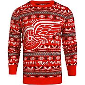 Klew Men's Detroit Red Wings Red/Black Ugly Sweater