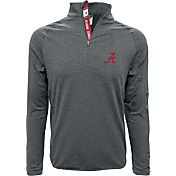 Levelwear Men's Alabama Crimson Tide Grey Metro Quarter-Zip