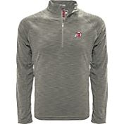 Levelwear Men's Utah Utes Grey Mobility Long Sleeve Quarter-Zip Shirt