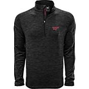 Levelwear Men's Vanderbilt Commodores Grey Armour Quarter-Zip Shirt