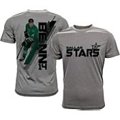 Levelwear Men's Dallas Stars Jamie Benn #14 Grey Spectrum T-Shirt