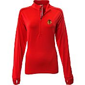 Levelwear Women's Chicago Blackhawks Pacer Red Quarter-Zip Shirt