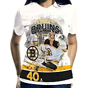 Levelwear Women's Boston Bruins Tuukka Rask #40 Center Ice White T-Shirt