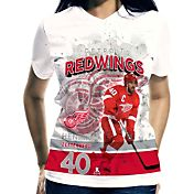 Levelwear Women's Detroit Red Wings Henrik Zetterberg #40 Center Ice White T-Shirt