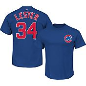 Majestic Men's Chicago Cubs Jon Lester #34 Royal T-Shirt