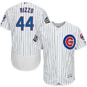 Majestic Men's 2016 World Series Authentic Chicago Cubs Anthony Rizzo #44 Flex Base Home White On-Field Jersey