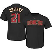 Majestic Men's Arizona Diamondbacks Zack Greinke #21 Black T-Shirt